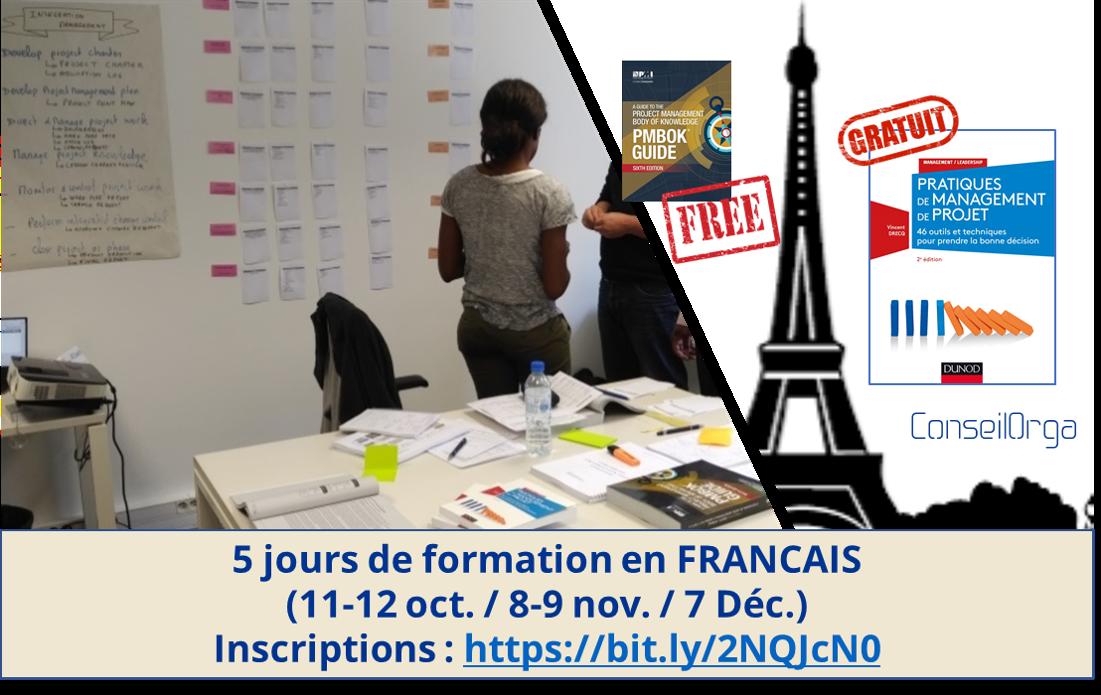 Venez préparer votre certification PMP® sur Paris avant fin 2018