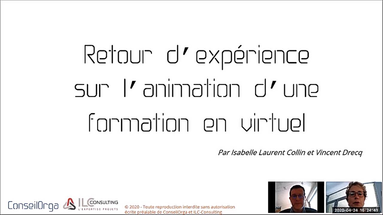 Retour d'expérience sur l'animation de formations à distance